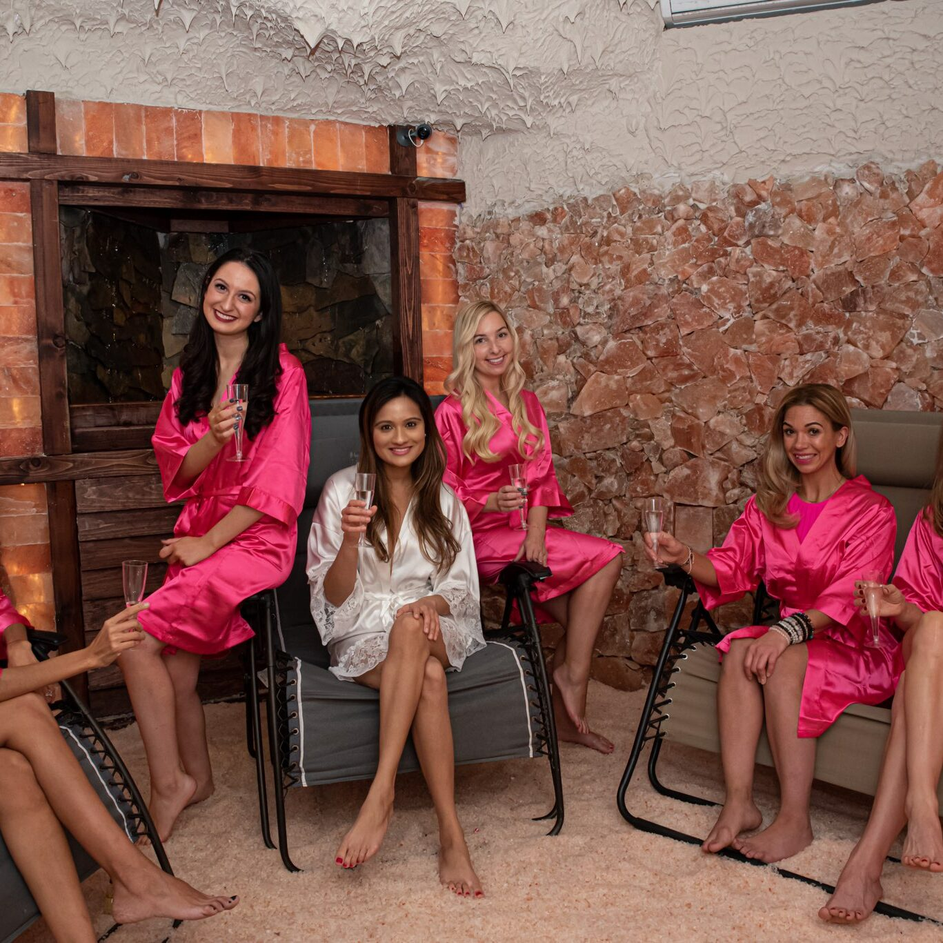 Bridal party at tranquility spa and salt cave
